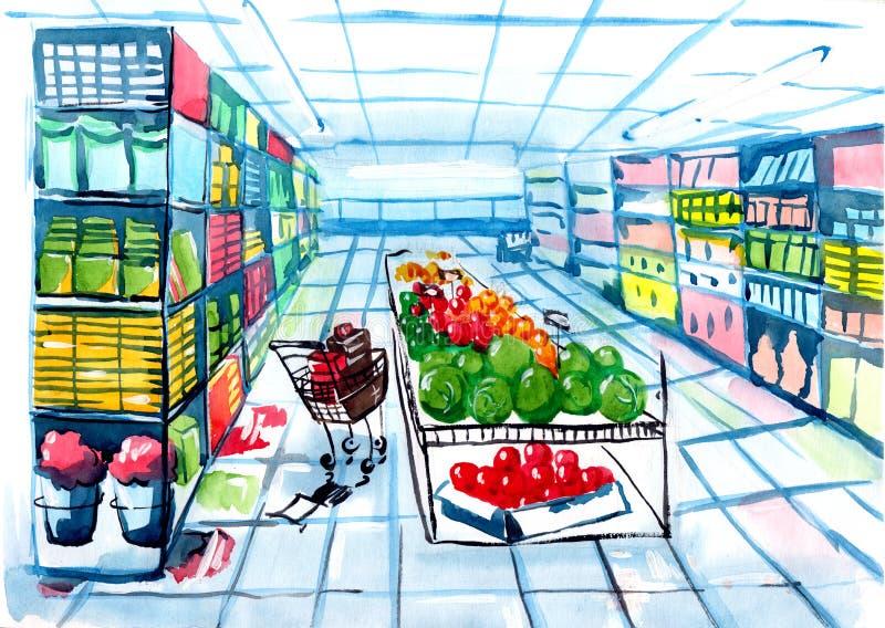 supermarket royalty ilustracja