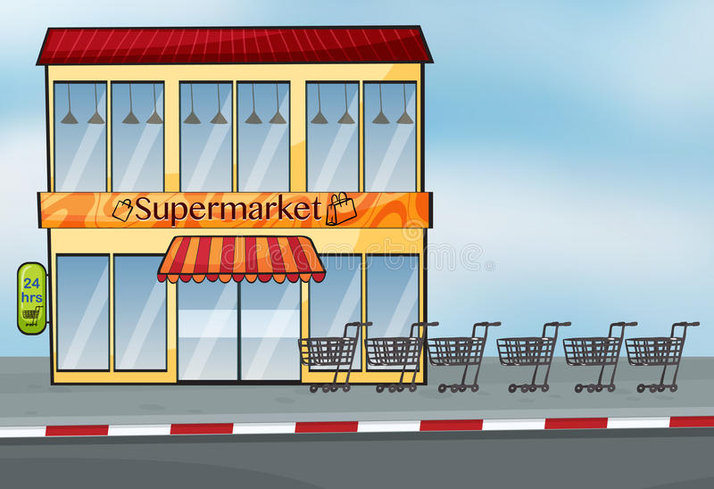 Supermarket blisko ulicy royalty ilustracja