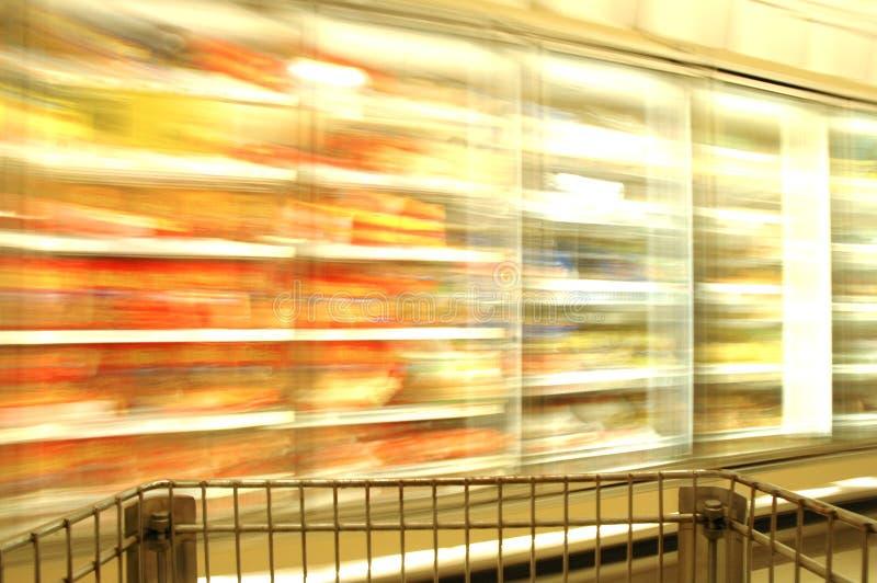 Supermarket Blur Frozen royalty free stock photo
