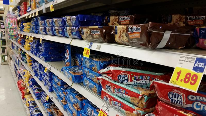Supermarket: Ciastko Asile zdjęcia stock