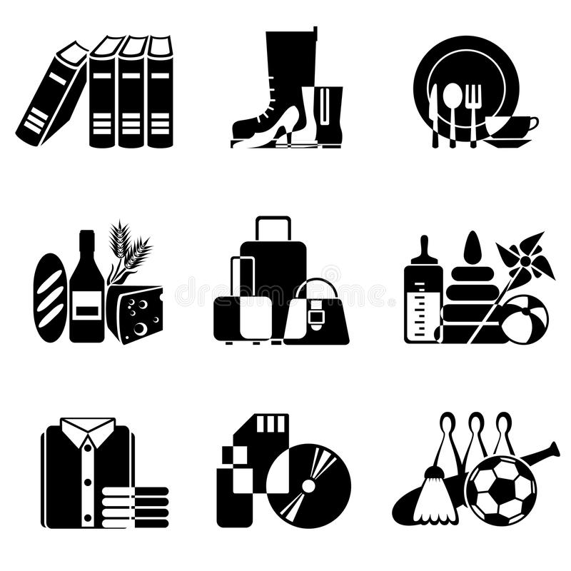 Download Supermarket icons stock vector. Image of books, crossover - 22387400