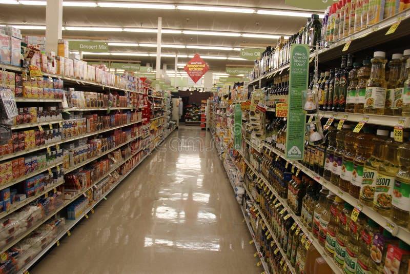 Supermarket Isle stock photography