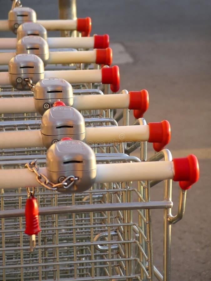 Supermarket Karts royalty free stock images