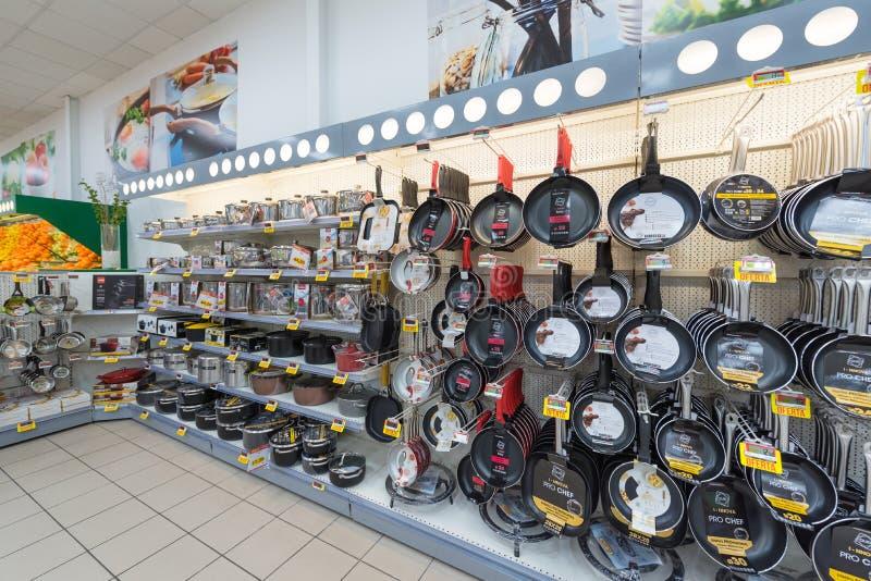 Supermarket kitchen utensils royalty free stock images