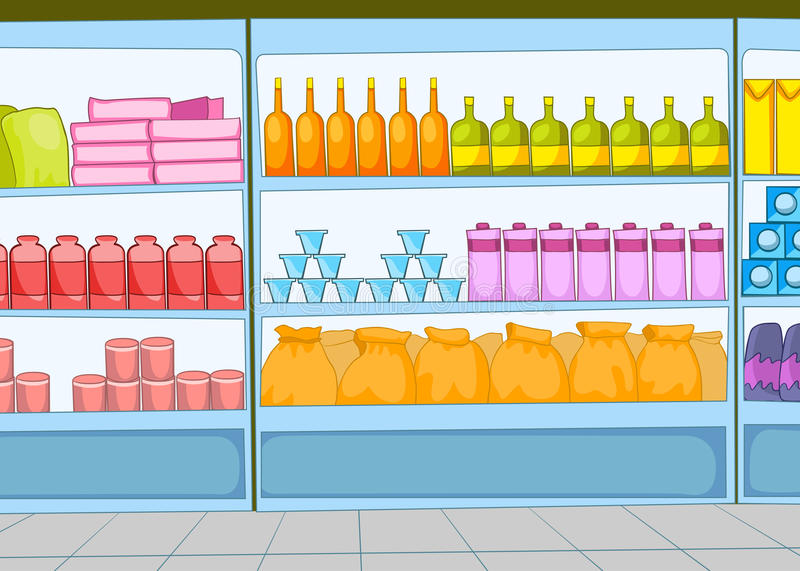 Supermarket Kreskówka royalty ilustracja