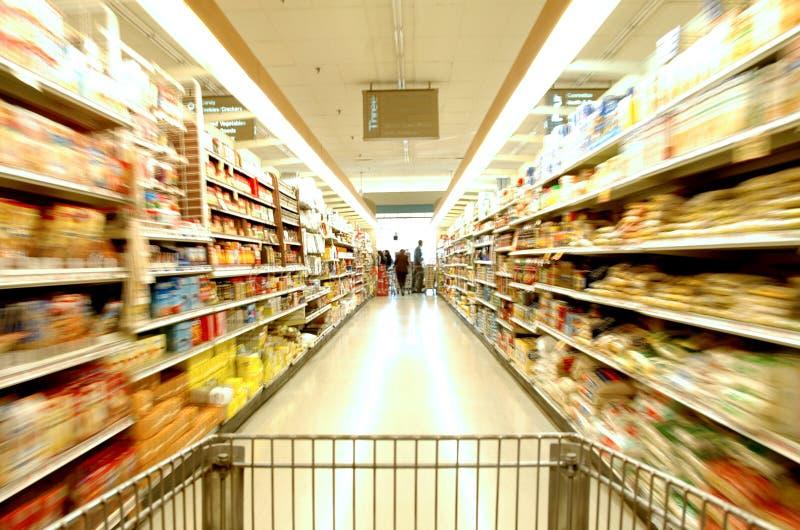 Supermarket Motion royalty free stock photos