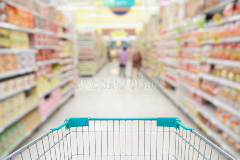 Supermarket nawy Hong kong obraz royalty free