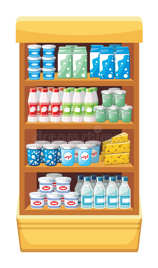 Supermarket. Produkty. ilustracja wektor
