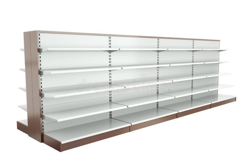 Supermarket shelves vector illustration