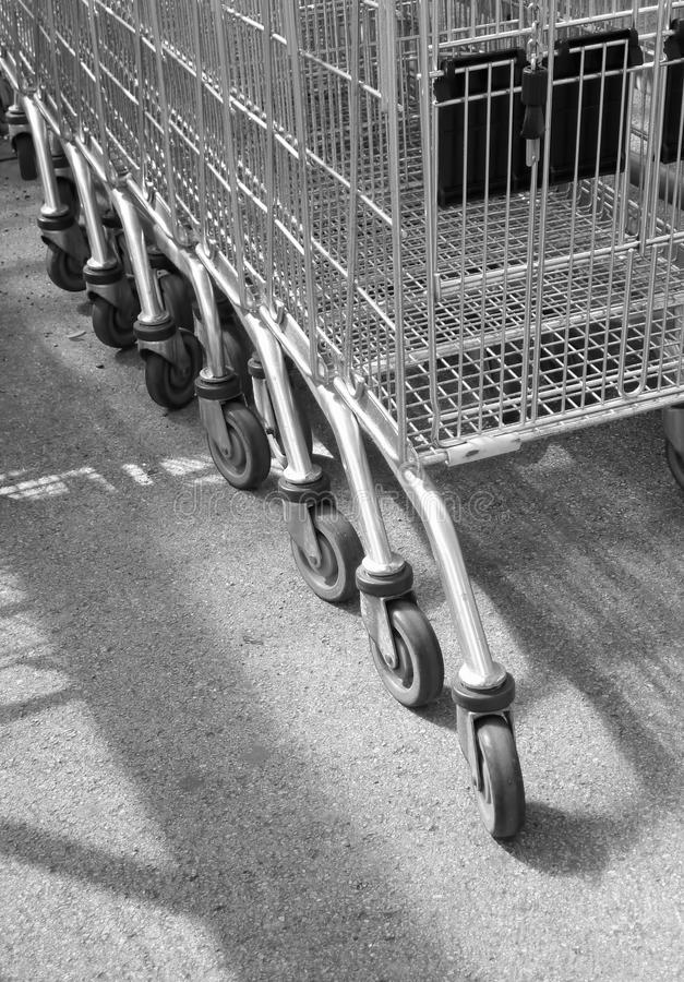 Download Supermarket trolleys stock image. Image of shop, shadows - 29029795