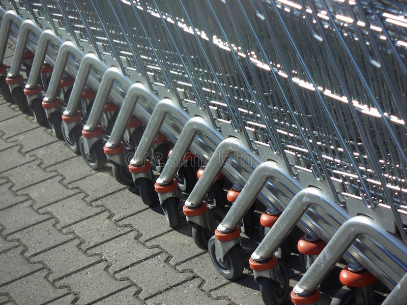 Download Supermarket Trolleys Royalty Free Stock Image - Image: 508316