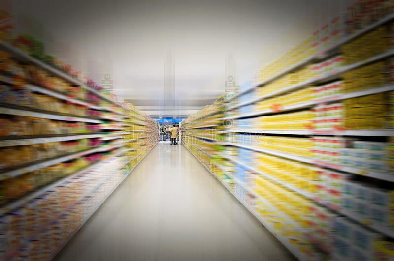 Supermarket View Royalty Free Stock Photos