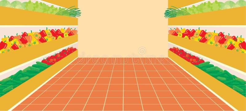 supermarketa numerowy warzywo ilustracji