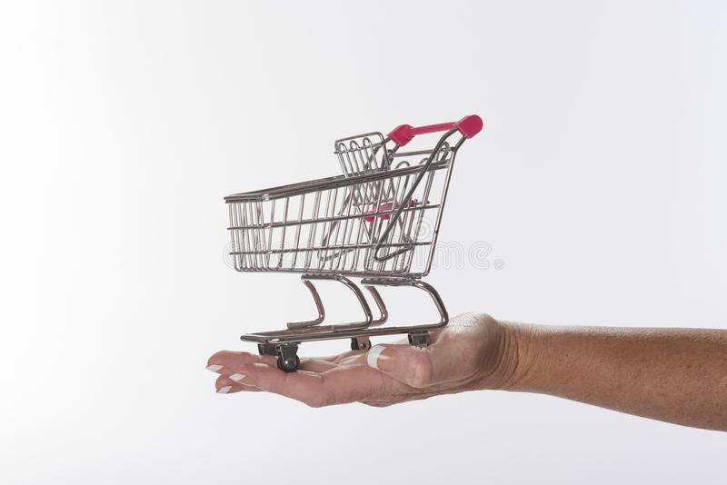 Supermarketa tramwaj obrazy royalty free