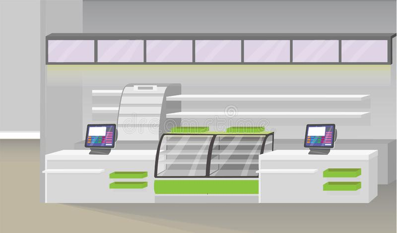 Supermarketa wnętrza ilustracja ilustracji