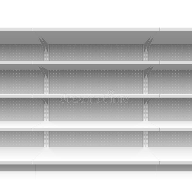 Supermarkethyllor vektor illustrationer