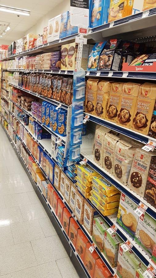 Supermarketmat fotografering för bildbyråer