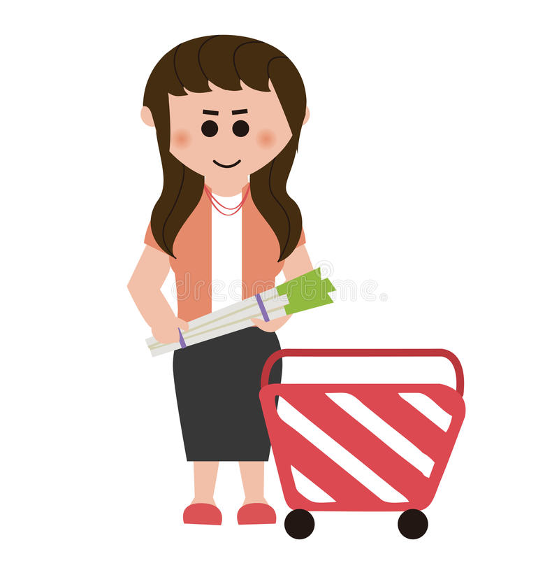 Supermarkets, shopping. About shopping, design material vector illustration