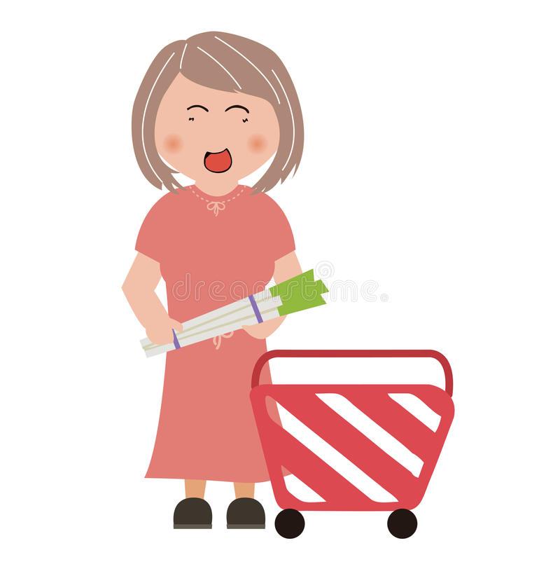 Supermarkets, shopping. About shopping, design material royalty free illustration