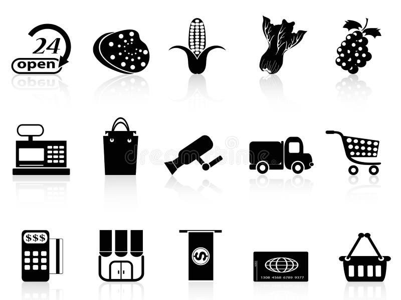 Supermarketshoppingsymbol royaltyfri illustrationer