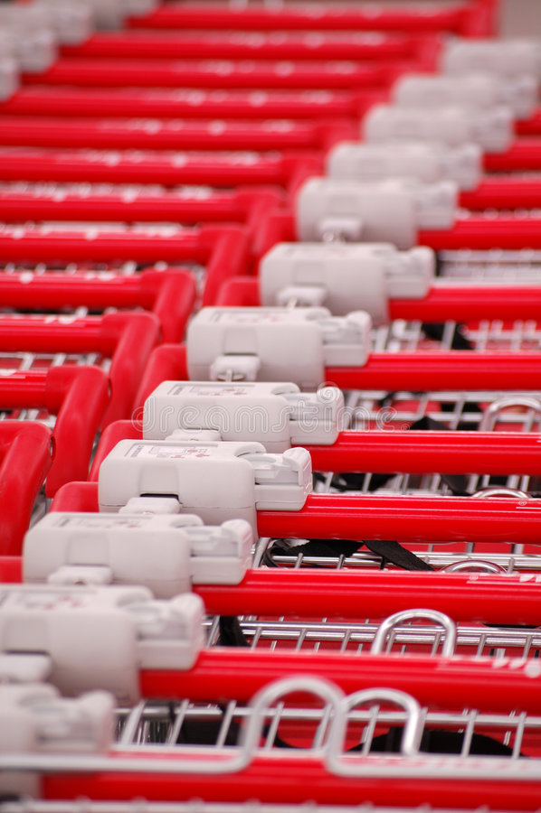 supermarkettrolley royaltyfri foto