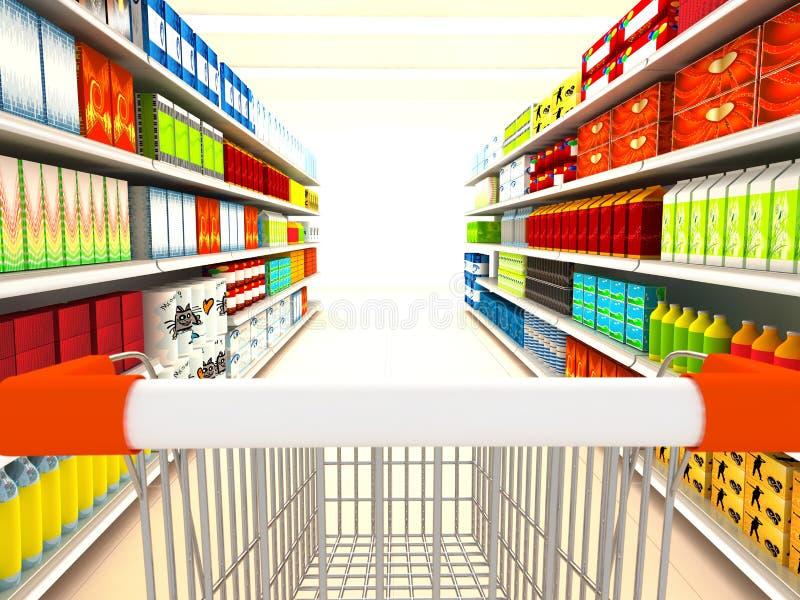Supermarkt royalty-vrije illustratie