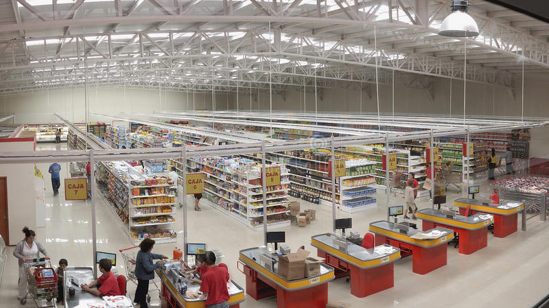 Supermarkt stockfotos