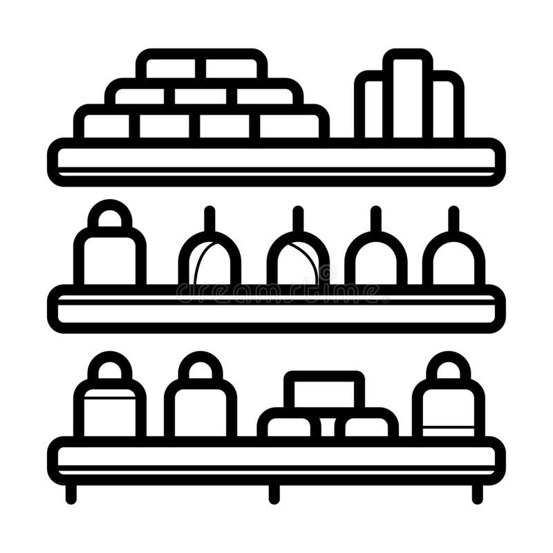 Supermarkt binnenlands pictogram vector illustratie