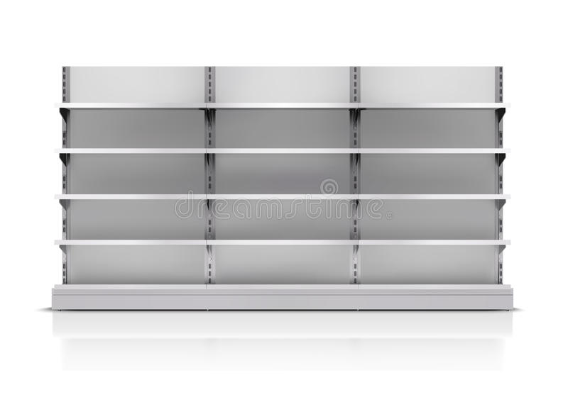 Supermarkt-Regal lokalisiert stock abbildung