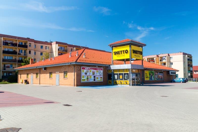 Supermarkt van de Netto de Deense korting royalty-vrije stock afbeeldingen