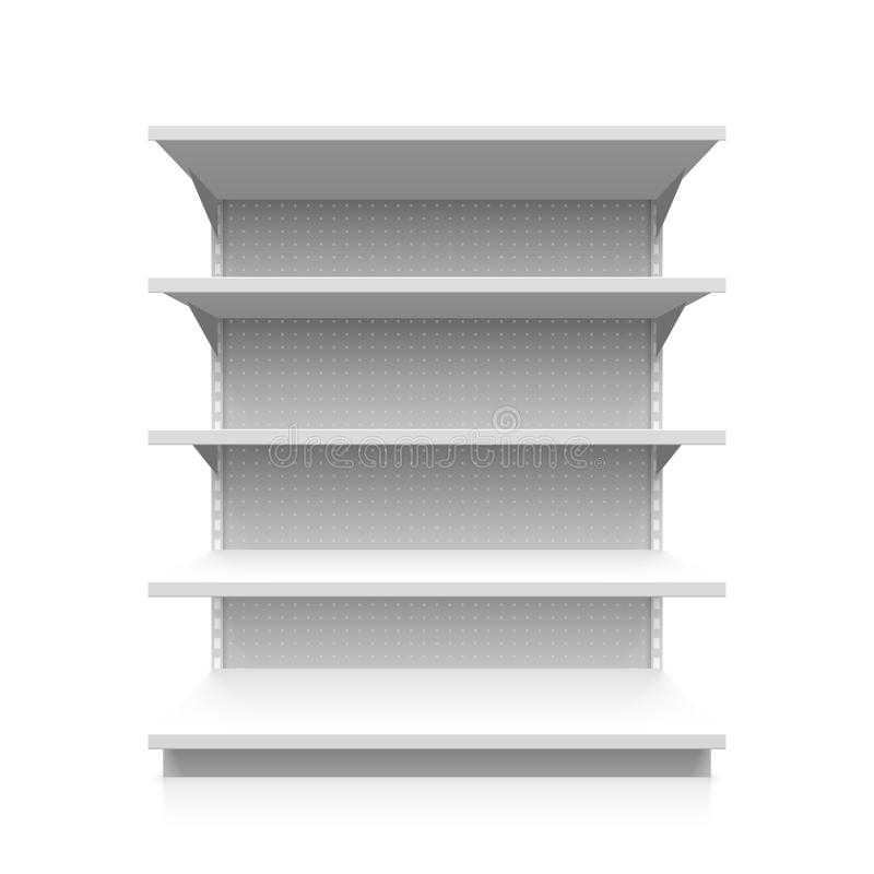 Supermarktregal stock abbildung