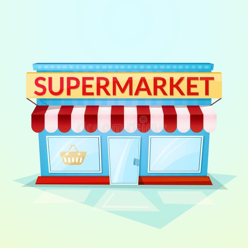Supermarktwinkel, vectorillustratie stock illustratie