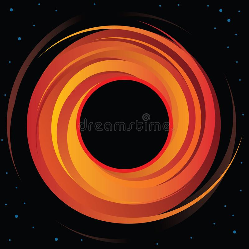 Supermassive Black Hole Vector Graphic royalty free illustration