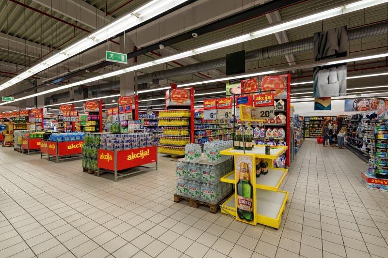 Supermercado, área de compras imágenes de archivo libres de regalías