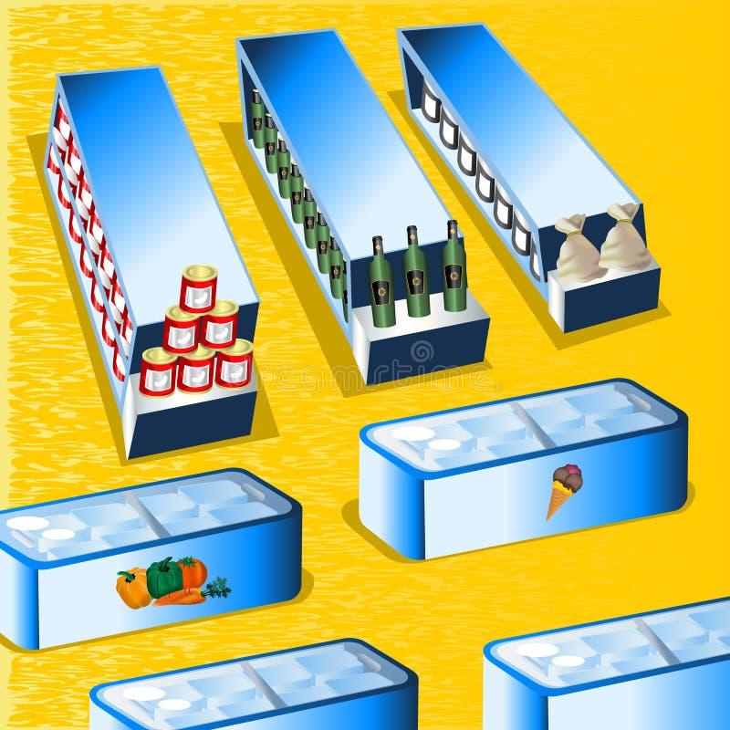 Supermercado ilustração royalty free