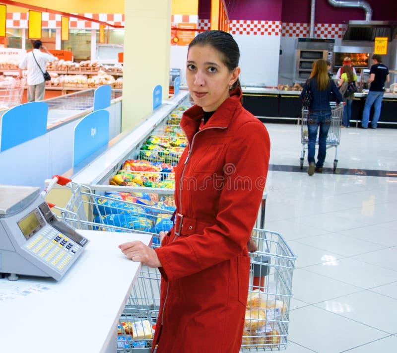 Supermercado com auto-serviço 2 fotografia de stock