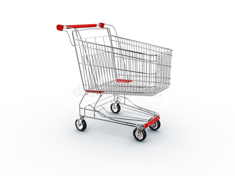 Supermercado da compra do carro ilustração do vetor