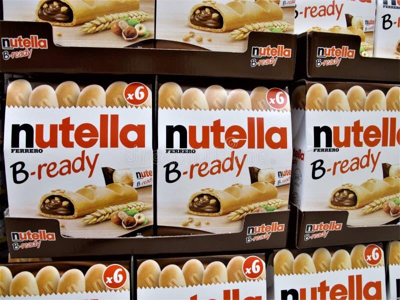 Supermercado de Auchan em Roma imagens de stock