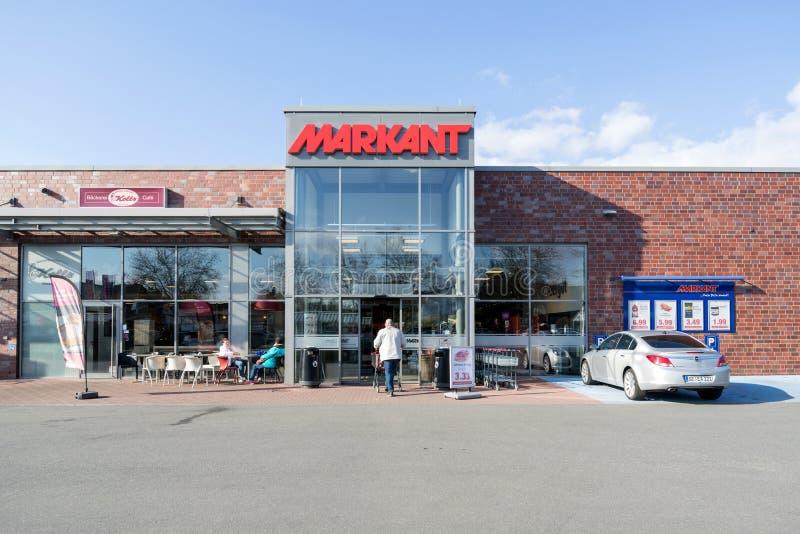 Supermercado de Markant em Quickborn, Alemanha fotografia de stock