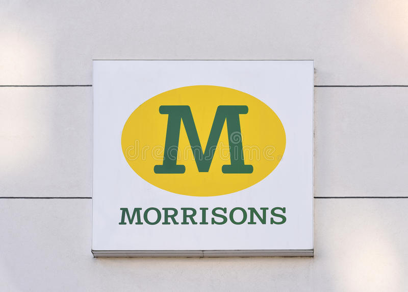 Supermercado de Morrison de Reino Unido o 1º de dezembro fotos de stock royalty free