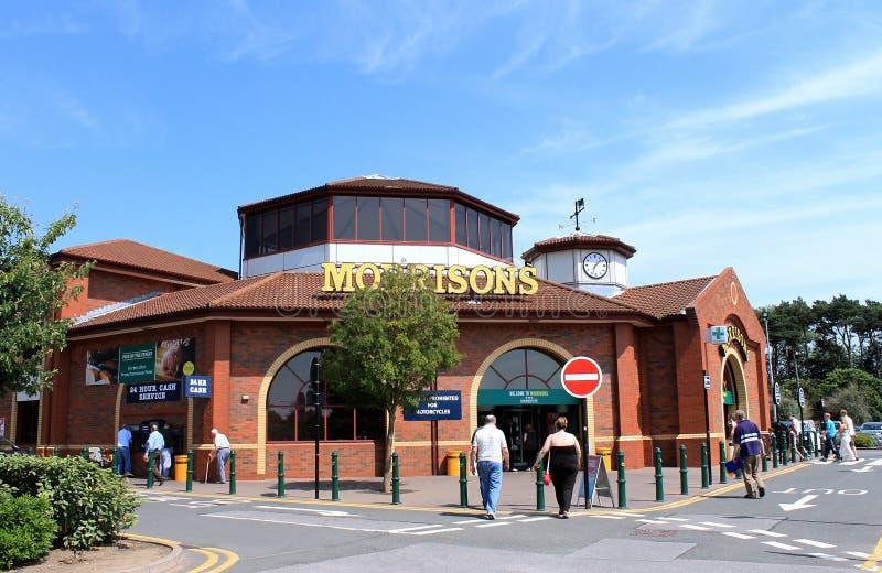 Supermercado de Morrisons foto de archivo libre de regalías