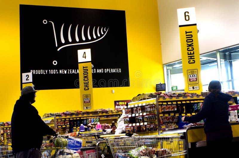 Supermercado de PAK'nSAVE imagen de archivo