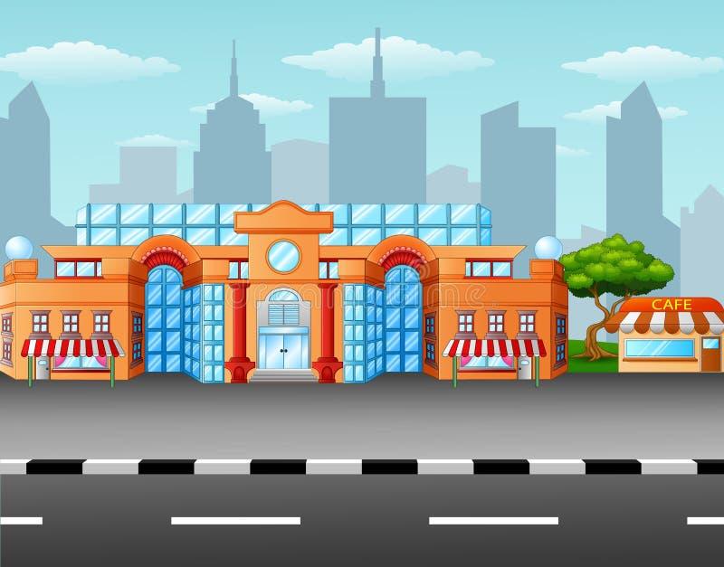 Supermercado en el borde de la carretera libre illustration