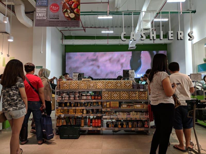 Supermercado en Tangerang foto de archivo