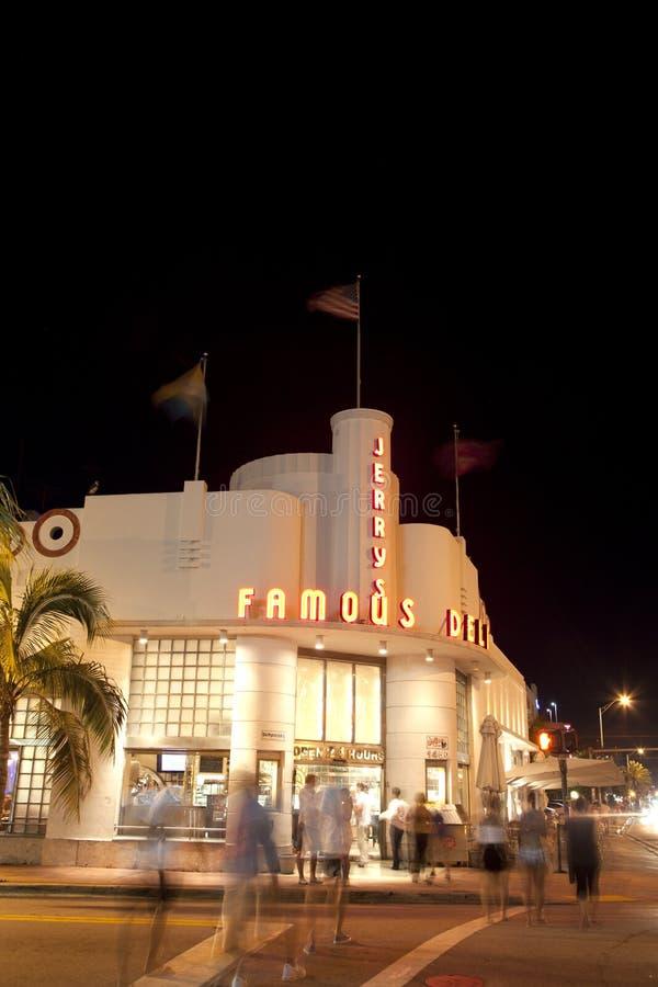Supermercado fino famoso de Jerrys em Miami sul imagem de stock royalty free