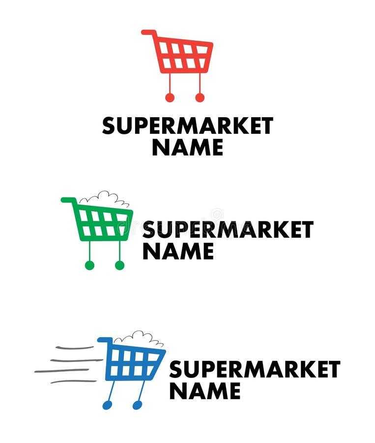 Supermercado, varejo ou logotipo da alameda ilustração royalty free