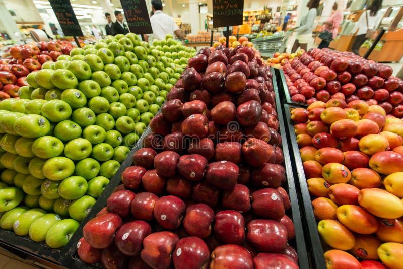 Supermercado Waitrose de Dubai o 8 de agosto mim imagem de stock