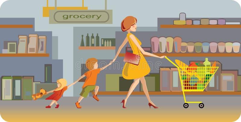 Supermercato illustrazione di stock
