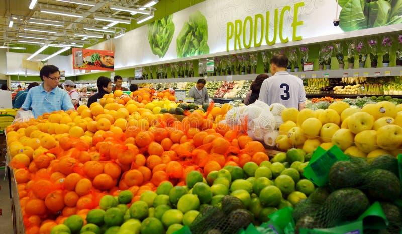 Supermercato asiatico fotografia stock libera da diritti