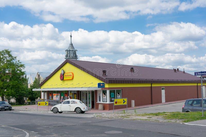Supermercato di Biedronka immagine stock
